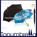 2014 nuevos productos de la noche cielo patrón de eje recto paraguas