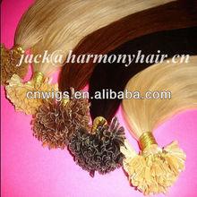 Best keratin u tip hair/remy hair extension u tip/u nail tip hair extensions