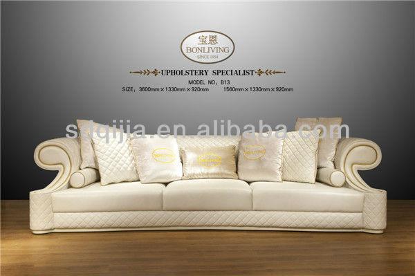 Hot moderne haut de gamme style italien de luxe blanc salon canap en cuir ca - Salon cuir italien moderne ...