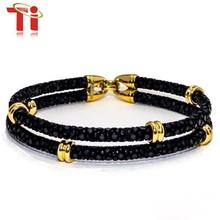 2015 fashion men's gold plated stingray bracelet, magnetic bracelet jewelry, bracelet for sale