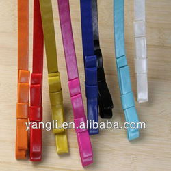 2014 New design fashion colorful PU belt with bowknot for women