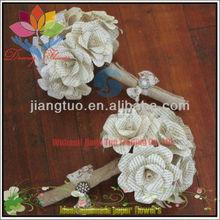 2013 fashion crystal lotus flower candle holder wedding favors