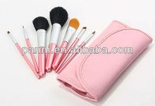 7 pcs makeup brush travel size makeup brush set hot pink makeup brush set