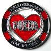Cheap Red Lovely Custom gambling poker chip