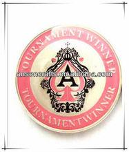 2015 new designTournament winner metal poker chips for souvenir