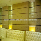 class room fiberglass board acoustic /Soundproof leather wall covering panel