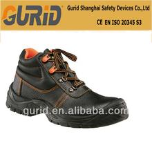 Véritable chaussures en cuir embout d'acier chaussures de sécurité antistatique