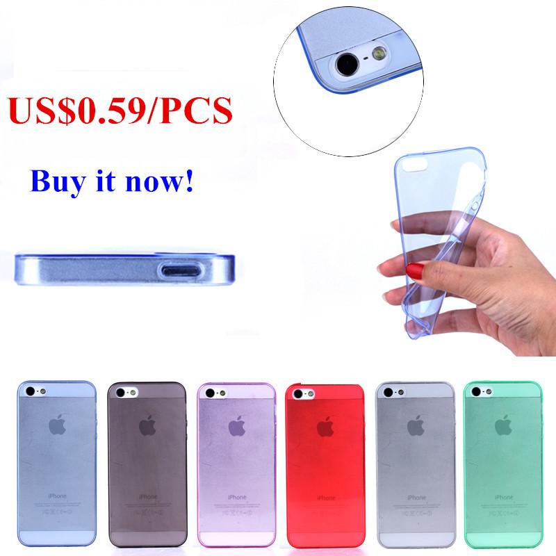 Ultrafino TPU soft case para iPhone 5, Para o iPhone 5S caso, Para iPhone 5 capa