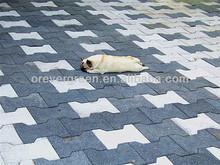 Bone Rubber Paver Tile/ Garden rubber tile-OR-02