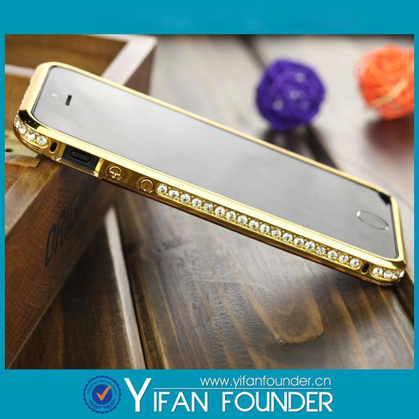 China manufactures Aluminum Diamond Bumper case for apple iPhone 5,high grade!