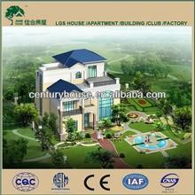 luxury light steel structure villa kit home