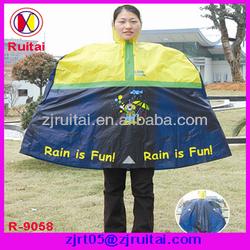 PVC yellow rain poncho