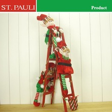 28inch Elf Christmas Craft with Wooden Ladder