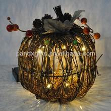Halloween decoration Natural Material litht up Pumpkin