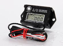 Digital LCD Engine Hour Meter Waterproof Inductive Tacho Hour Meter,Record Max RPM Meter