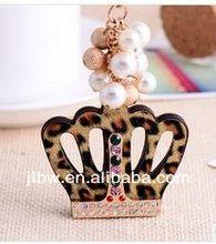 elegant fashion metal car keychain high end keyrings for handbag accessories