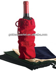 Single Bottle Wine Drawstring Cotton Bag(BSCI and social audit factory)