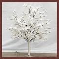 simulazione di alta illuminazione di paesaggio luce a led albero artificiale bianco fiore di ciliegio per la decorazione di natale