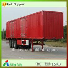 2015 COMPETITIVE PRICE TRI-AXLES cargo van semi trailer FOR SALE , truck van semitrailer