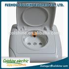 2P+E IP54 ABS waterproof flush mounted electrical wall socket