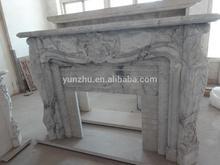 Manual sculpture marble fireplace mantel
