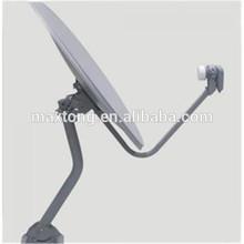 ku 80cm pole mount satellite dish antenna/outdoor tv dish antenna