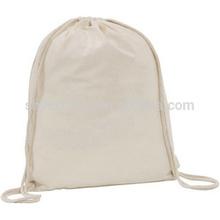organic fashion wholesale plain white drawstring cotton rice bag manufacturer