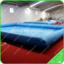 yellow and blue inflatable basketball hoop pool