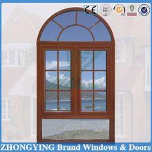 Top hung round design casement type double glaze windows