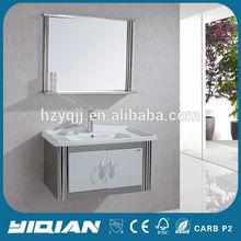 Modern Two Door Wall Hanging Vanity Bathroom Stainless Steel Mirrored Furniture Ideas