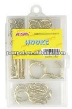 40pcs brass plated hook set ( DIY hardware set)