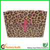 Luxury leopard paper shopping bag, printed shopping bags,foldable shopping bag