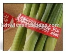 printed paper vegetables twist ties/bag closures
