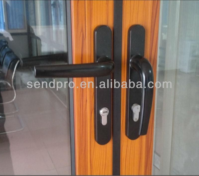 De madera del grano de aluminio de doble cristal acorde n - Puertas acordeon madera ...