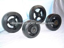 """8X2"""" High Load Solid Steel Hub Hard Rubber Wheel"""