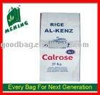 تدوير الصفحات منسوج كيس الأرز مغلفة ص المنسوجة كيس السكر 50kg mv-0009 دليل على المياه