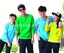 2015 simple fashion design plain printing cotton unisex sportswear t-shirt in guangzhou
