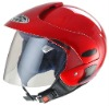 HUADUN red half face motorcycle helmet, cheap ABS helmet summer autumn HD-50S