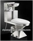 Stainless steel 304 portable toilet bowl two piece toilet