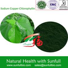 natural en polvo de la clorofila