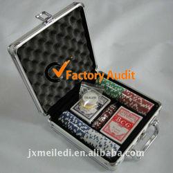 aircraft aluminum poker set 100pcs poker chip set MLD-AC1361