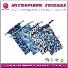 full color printed microfiber fabric glasses pouch, reading glasses pouch,soft glasses pouch