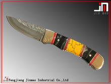 "6"" Beautiful Damascus Hunting Survival Knife"