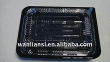 Disposable plastic lunch bento box