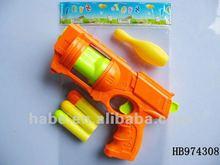 EVA soft gun with 1 bowling ball+ 3 EVA bullets, children soft gun toys