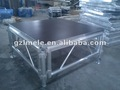 portátil de aluminio etapa con los pasos