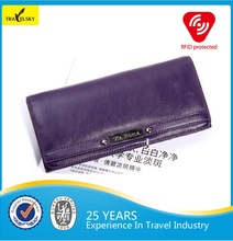 13589 Leather Woman Wallet RFID Blocking Pouch Wallet