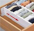 Organizador da gaveta ajustável, divisores de gaveta, plástico divisores de gaveta