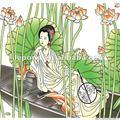 cinese stile tiffany vetro colorato