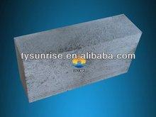 Grey bricks Fused Cast Skid Rail Block as glass kiln hearth block